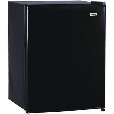 2.4 cu. ft. Compact Refrigerator with Freezer Finish: Black