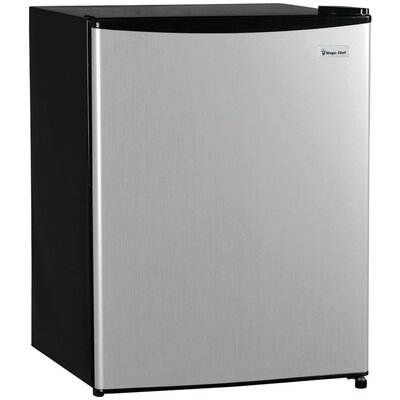 2.4 cu. ft. Compact Refrigerator with Freezer Finish: Silver