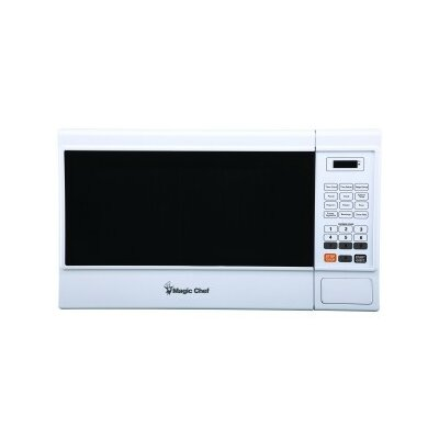 "1000 Watt Digital Touch 22"" 1.3 Cu Ft Countertop Microwave Finish: White"