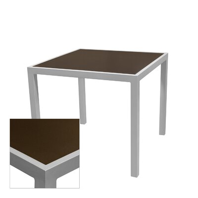 "Corsa Bar Table Table Size: 24"" L x 24"" W, Top Finish: Espresso, Frame Finish: White"