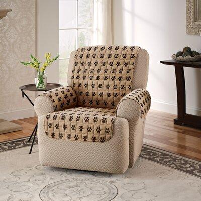 Box Cushion Recliner Slipcover Color: Natural