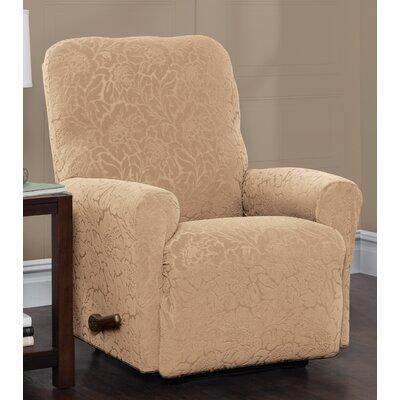 Box Cushion Recliner Slipcover Upholstery: Sand