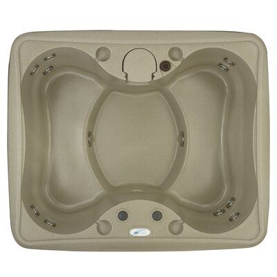 Select 150 4-Person Plug and Play with 12 Stainless Jets and LED Waterfall Finish: Cobblestone