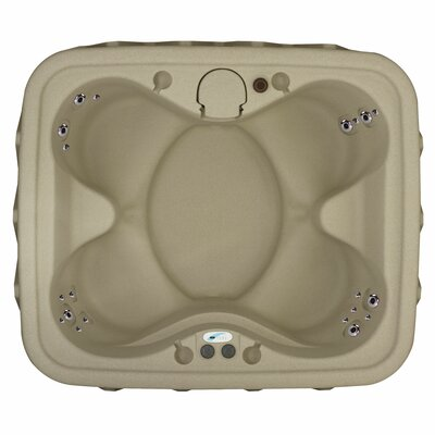 Premium 400 4-Person Plug and Play with 20 Stainless Jets, Heater, Ozone and LED Waterfall Finish: Cobblestone