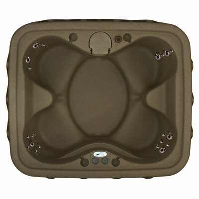 Premium 400 4-Person Plug and Play with 20 Stainless Jets, Heater, Ozone and LED Waterfall Finish: Brownstone