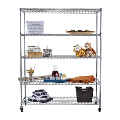 "Trinity NSF Extra Large Commercial Grade 77"" H 4 Shelf Shelving Unit"