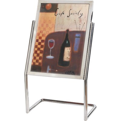 Menu and Poster Holder Color: Chrome