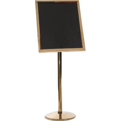 Single Pedestal Broadcaster Color: Brass