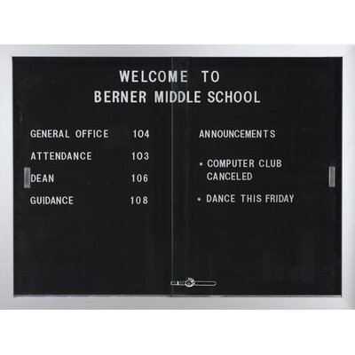AARCO Directory Enclosed Wall Mounted Letter Board