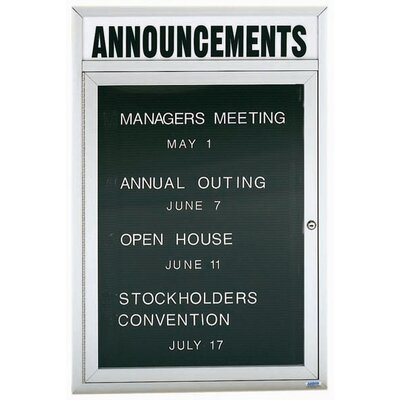 AARCO Directory Cabinet Enclosed Wall Mounted Letter Board