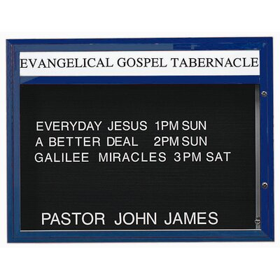 "Single Sided Illuminated Community Board Size: 42"" H x 60"" W, Frame Color: Bronze Satin Anodized"