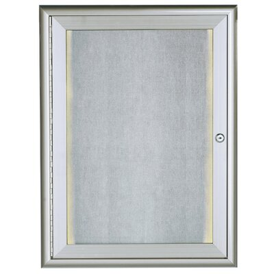 AARCO LED Lighted Enclosed Wall Mounted Bulletin Board