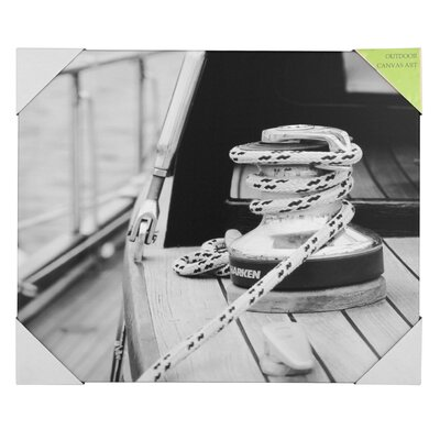Pacific Lifestyle Boat Rope Photographic Print on Canvas