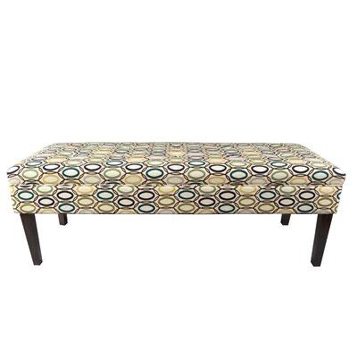 Coll Vera Upholstered Bench Color: Cobalt