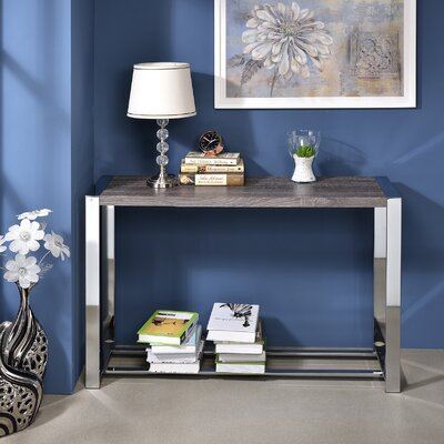 Lauritz Console Table Color: Gray