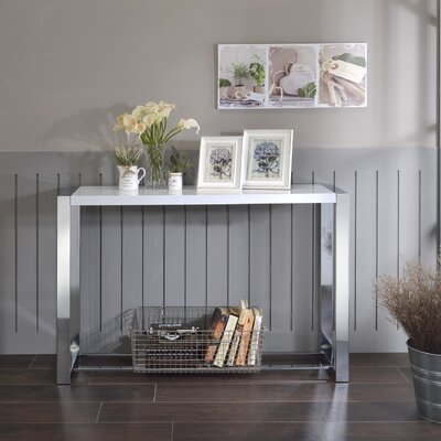 Lauritz Console Table Color: White