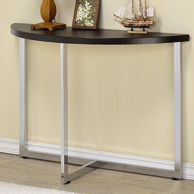 Millenial Console Table Color: Chrome