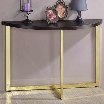 Millenial Console Table Color: Gold