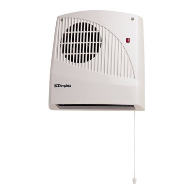Dimplex 2000 Watt Wall Mounted Electric Fan Heater with Pull Cord