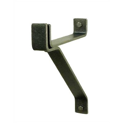 """USA Handcrafted 8"""" Wall Bracket for Cookware Bar in Hammered Steel"""
