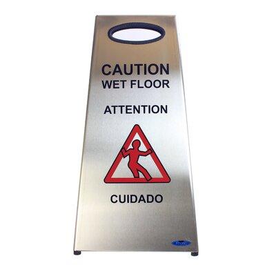 Stainless Steel Wet Floor Caution Sign