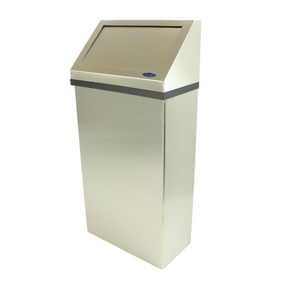 Wall Mounted Waste Receptacle Color: Stainless Steel