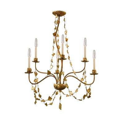Flambeau Mosaic 6 Light Candle Chandelier