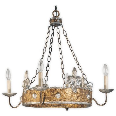 Flambeau Crown 4 Light Chandelier