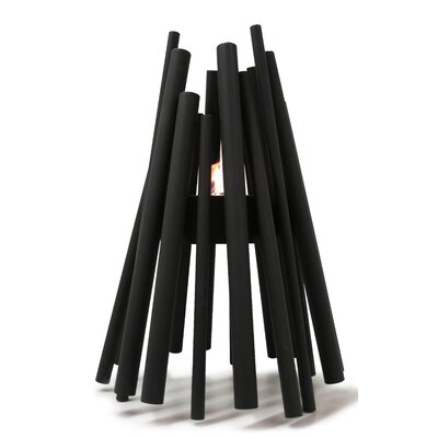 Stix Outdoor Stainless Steel Bioethanol Fire Column Finish: Black Satin Stainless Steel