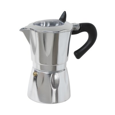Aluminum Vista Espresso Coffeemakers with Window Size: 6 Cup