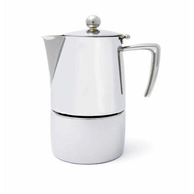 Milano Espresso Maker Size: 4 cup, Finish: Mirror Polish