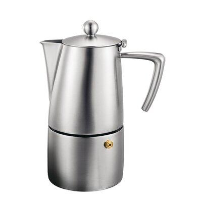Milano Espresso Maker Size: 4 cup, Finish: Satin Finish