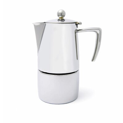 Milano Espresso Maker Size: 6 cup, Finish: Mirror Polish