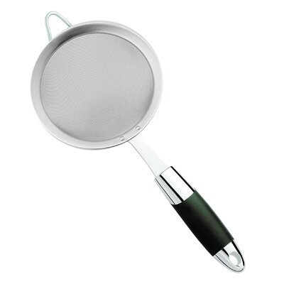 """Stainless Steel Strainer with Soft Touch Handle Size: 2"""" H x 6"""" W x 14.5"""" D"""