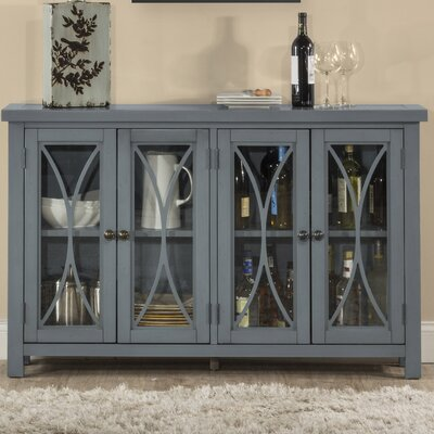 Sierra Madre 4 Door Accent Cabinet Color: Blue