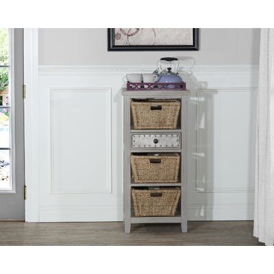 Sceinnker Accent Cabinet with 3 Baskets Color: Taupe