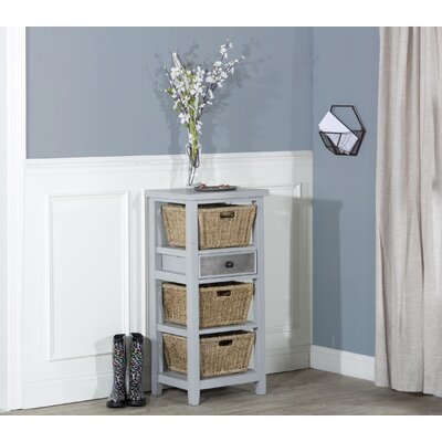 Sceinnker Accent Cabinet with 3 Baskets Color: Blue