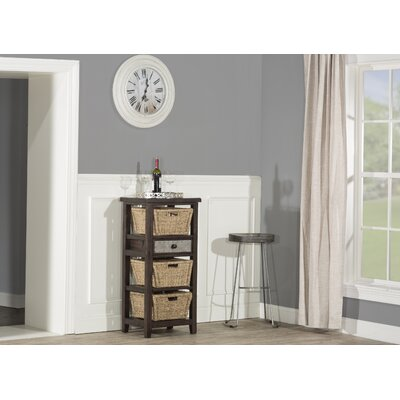 Sceinnker Accent Cabinet with 3 Baskets Color: Smoke