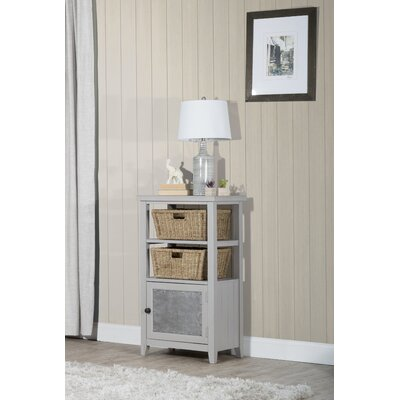 Sceinnker Rustic Wood Accent Cabinet Color: Taupe