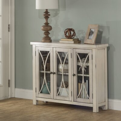 Sierra Madre 3 Door Accent Cabinet Color: White
