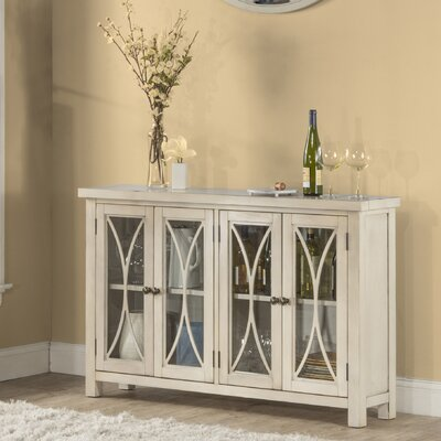 Sierra Madre 4 Door Accent Cabinet Color: White