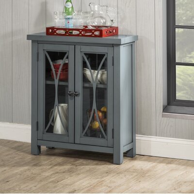 Sierra Madre 2 Door Accent Cabinet Color: Blue