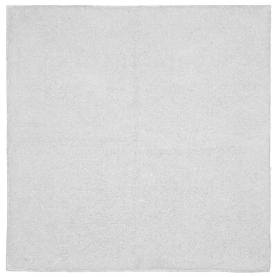 "Roanoke Cotton Area Rug Size: 24""x24"", Color: White"