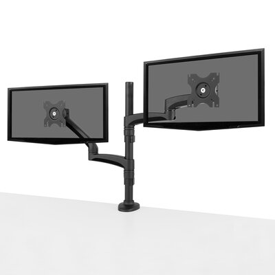 "Dual-Monitor Articulating Arm Desktop Mount for 13""-27"" Flat Panel Screen"