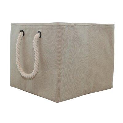 Storage Fabric Bin with Rope Handle Size: Medium