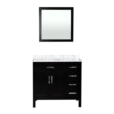 """Brincken 36"""" Single Bathroom Vanity Set with Mirror"""