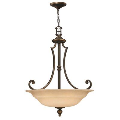 Hinkley Plymouth 3 Light Inverted Pendant
