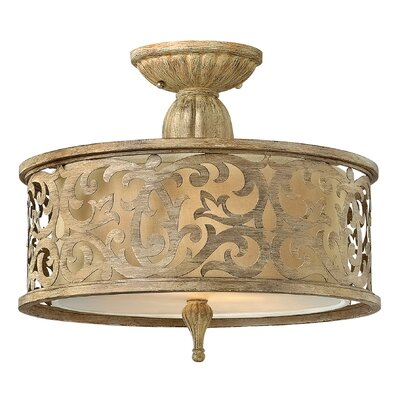 Hinkley Carabel 2 Light Semi-Flush Mount