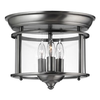 Hinkley Gentry 3 Light Flush Mount