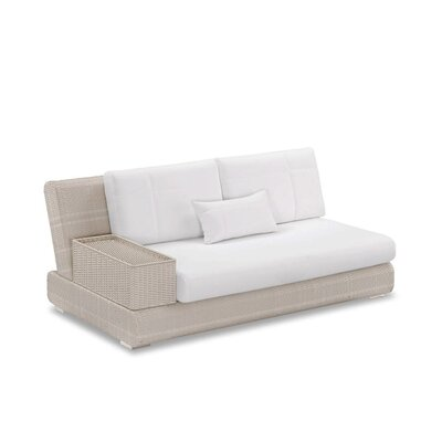 Sumba Loveseat Sectional Piece with Cushions Fabric: Sumbrella Black